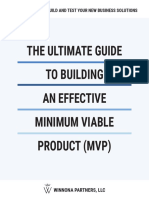 The Ultimate Guide to Building an Effective Minimum Viable product (MVP)