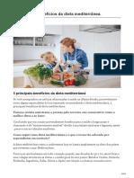 5 Principais Benefícios Da Dieta Mediterrânea