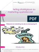 Du Marketing Stratégique Au Marketing Opérationnel