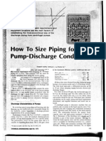 How to Size Piping for Pump-discharge Conditions