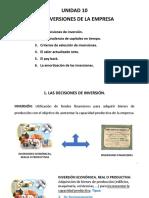 1 Unidad 10 LAS INVERSIONES DE LA EMPRESA EVAGD