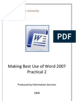 MS WORD 2007 GUIDELINES