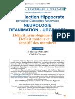 Déficit neurologique