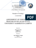 Assessment of Enrolment Process of Bulacan State Sarmiento Campus