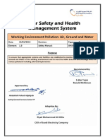 SEC Standards -1.5 - 5-Star Safety and Health Management System -  Working Environment Pollution - Air - Ground - Water