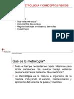 Metrología y conceptos físicos