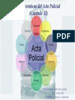 Mapa mental características del Acta Policial