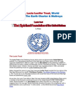 The UN, Lucis Trust, World Goodwill, Earth Charter, Maitreya
