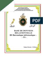 BASES DE DONNEES RELATIONNELLES BS BUREAU INFORMATIQUE TS