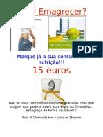 cartaz A3 da consulta de nutrição