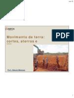 Aula 06- Considerações sobre Movimento de terra