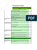 Complete System Administrator Checklist