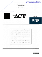 ACT 201904 Form Z15