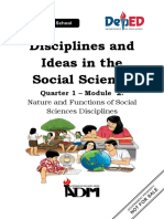 DISS_mod2_Nature and Functions of Social Sciences Disciplines