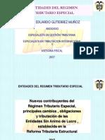 ENTIDADES DE REGIMEN TRIBUTARIO ESPECIAL