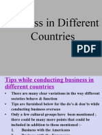 Business in Different Countries