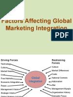 Factors Affecting Global Marketing Integration