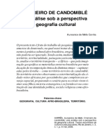 o Terreiro de Candomblé Uma Análise Sob a Perspectiva Da Geografia Cultural