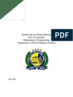 Sanitary Sewer Design Manual