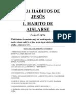 habito de orar de jesus
