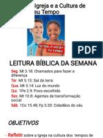 Lição 12- A Igreja e a Cultura - JUVENIS