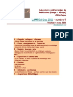 LAMPEA-Doc 2011 – numéro 9 / Vendredi 4 mars 2011