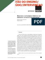 Materiais e estratégias didáticas em ambiente virtual de Aprendizagem