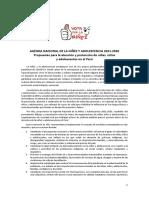 Agenda Niñez 2021-2026