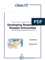 Developing Research in Russian Universities