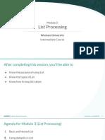 Module 3 - List Processing