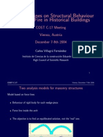 Some Guidelines on Structural Behaviour in Case of Fire in Historical Buildings
