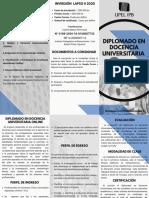 DIPLOMADO DOCENCIA UNIVERSITARIA UPEL IPB 2021