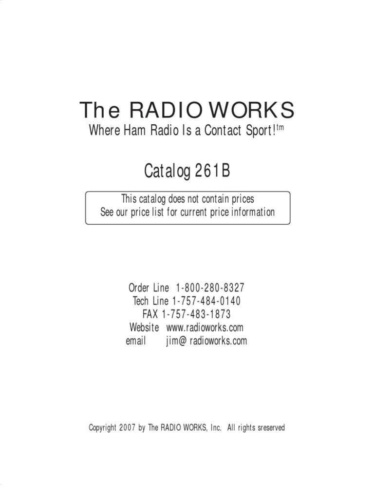 radio works | Antenna (Radio) | Coaxial Cable