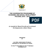 Ghana Coordinated Prog of Econ and Social Devt Policies 2010-2016