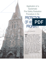 Copping, Alexander C. Application of a Systematic Fire Safety Evaluation. Procedure in the Protection of Historic Property