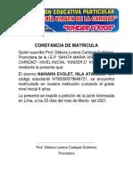 CONSTANCIA DE MATRICULA NAHIARA