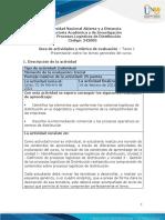 Guía de actividades y rúbrica de evaluación - Unidad 1 - Tarea 1 - Presentación sobre los temas generales del curso