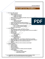 4. Declaration and Access Modifiers