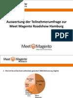 Meet Magento Roadshow Hamburg - Auswertung der Umfrage