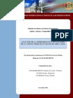 Analyse de La Performance Financiere De