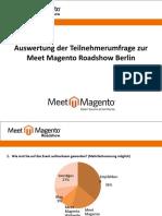 Meet Magento Roadshow Berlin - Auswertung der Umfrage