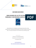 Informe Resumen Indicadores TIC Educacion Primaria Secundaria 2010