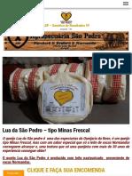Queijo - Lua Da São Pedro – Tipo Minas Frescal – ASP – Genética de Resultados !!!!