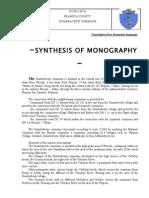 Monography of Dumbrăvești commune