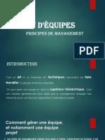Gestion d'équipes - Principes de management