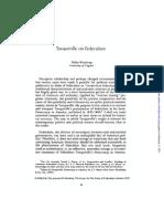 Tocqueville on Federalism - Delba Winthrop
