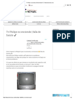 Tv Philips no enciende _ falla de fuente ✔ _ Fallaselectronicas