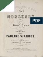 Viardot, Morceaux Six pieces pour violon & piano