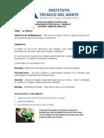 GUIAS DE LENGUA CASTELLANA GRADO 8 (Segunda semana)