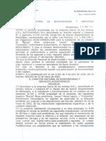 Autorización de la Dirección Nacional de Biodiversidad